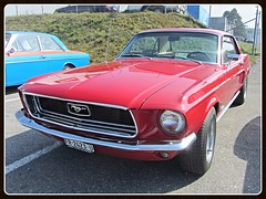 Ford Mustang, 1968 (v8dub) Tags: auto old classic ford car schweiz switzerland automobile suisse muscle automotive voiture pony american oldtimer 1968 mustang fribourg oldcar freiburg collector wagen pkw klassik worldcars