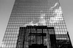 Cloudy Reflection (that_damn_duck) Tags: bw reflection clouds mirror blackwhite unitedstates southcarolina