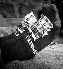 360/365  Novelty Socks - 365 Project 2015 (Helen) (dorsetbays) Tags: socks blackwhite gift present drwho 365 christmaspresent monocrhome noveltysocks christmassocks 365project aphotoadayforayear