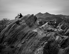 Pandora and Khaleesi (2 of 2) (liquidhavok) Tags: landscape huskie khaleesi vasquezrocks