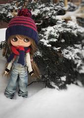 Snowing.....!!!!bbrrrrr... At Sapporo