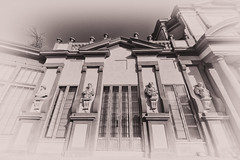 Palazzina of Ducal Gardens (drugodragodiego) Tags: blackandwhite bw italy sepia architecture buildings blackwhite pentax sigma modena biancoenero emiliaromagna k3 seppia pentaxiani sigma816mmf4556dchsm sigma816mm pentaxk3