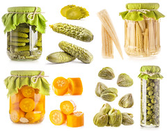 Collection of Glass jars of preserved vegetables isolated on white background (tigercop2k3) Tags: autumn food white green yellow closeup set fruit corn background seasonal bank vegetable can ukraine fresh pot homemade salty collections snack squash canned jar chopped zucchini pickled sour cob preserve pickle marinade isolated sweetcorn seasoning canning preservation caper corncob nutrition glassware prepared salted conserve marinated gherkins tinned marinate conserved capparis patison