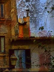 Oh!! el Trastevere... (desde mi corazn) Tags: roma textura trastevere cielo antena chimeneas farol casas barrio tejados parablica enredadera ventans
