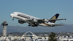 A380 9V-SKN departs LAX (grahambath91) Tags: los angeles lax sia airliner a30 9vskn