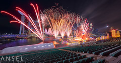 River hongbao 2016 (draken413o) Tags: new travel urban panorama skyline wow river singapore asia fireworks year chinese platform cityscapes floating places celebration glorious scenes pyrotechnics hongbao destinations 2016 14mm samyang