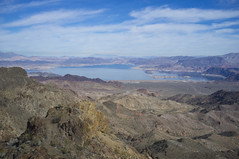 Lake Mead from the Summit of Black Mountain (Pete Foley) Tags: lasvegas hiking climbing lakemead blackmountain earlyspring littlestories overtheexcellence picswithsoul