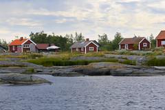 Rder (Anders Sellin) Tags: sea summer vacation stockholm baltic sverige archipelago swede skrgrd
