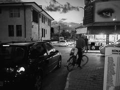 Busy evening in street corner (ErdenizS) Tags: pen olympus ep3