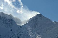 Wind blown peak (balu51) Tags: blue schnee winter sky mountain snow landscape himmel peak windy berge blau landschaft cairn januar winterlandscape 2016 graubnden wolkenlos windig surselva steinmnnchen bergspitze schneefahne copyrightbybalu51 dutjerhorn