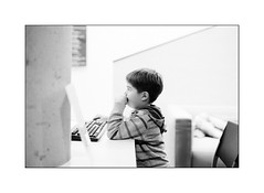 at the library (Istvan Penzes) Tags: family bw white black film library lucas handheld manualfocus roermond fujineopan400 homedeveloped agfarodinal summilux50mmasph penzes imaconflextight343