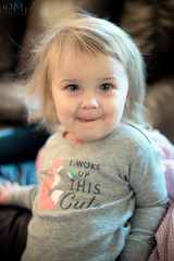Woke up this Cute (MjZ Photography) Tags: baby babygirl child cute cuteness daughter girl little smile toddler leighton