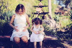 So mother, so daughter (dana.nikolova (india-eve)) Tags: park shadow summer woman baby white cute green love girl sunshine canon garden bench mom toy outside outdoors eos 50mm sweet sister daughter mother pregnancy adorable pregnant belly maternity mum tummy romantic greenery sis lookingdown lush piggytails minime bigsister expecting expectation whitedress mothertobe toylamb