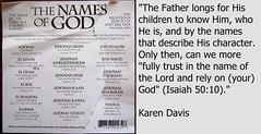 The Names of God (Jouni Niirola) Tags: god master names now shalom salvation yeshua sar the elohim adonailord