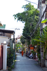 Time for a walk (Isabel-Valero) Tags: street green thailand asia monk tailandia mai chiang