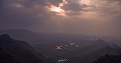 As the sun sets! (Nitz_Foto) Tags: travel trees sunset sky canon river evening kerala rays calicut kozhikode kakkayam