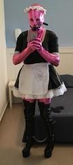 Foto 26-02-16, 15 15 11 (spiaggi@) Tags: boots apron pony sissy latex gag maid locked spandex catsuit gagged ponyboots