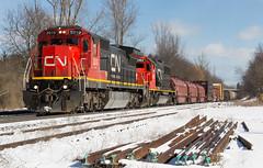 Standard Cabs (Joseph Bishop) Tags: railroad snow cn train track cab tracks rail railway trains rails standard ge railfan 2010 emd sd60 5463 copetown c408 cndundassubdivision