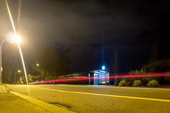 streak (kevin.boyd) Tags: road street light red bus lamp car streetlight long exposure post streak lamppost stop