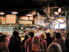 Pike Place Market, Seattle. (dckellyphoto) Tags: seattle fish downtown interior indoors pacificnorthwest seafood pikeplacemarket pikeplace 2010