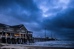 Jennette's Pier After Hurricane Joaquin (Ron Harbin Photography) Tags: storm beautiful pier ominous hurricane north northcarolina joaquin carolina outer banks obx jeanettespier
