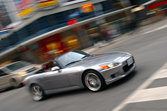 top down in March (Ian Muttoo) Tags: toronto ontario canada honda gimp convertible topdown pan panning s2000 hondas2000 ufraw dsc56041edit