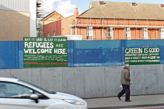 Refugees are welcome in Dalston....