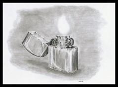 Lighter (Karwik) Tags: pencil pencils drawing lighter zippo owek rysunek zapalniczka olowek