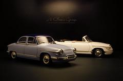 Panhard PL 17 1963 Cabriolet & 1961 Sedan (aJ Leong) Tags: sedan 17 1961 1963 118 cabriolet panhard pl solido