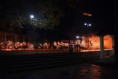 Night snap of Oil lamps fance in Kiri vehera (Sampath Muthunayake) Tags: night oillamps kirivehera