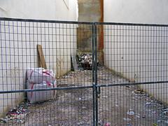 time goes by (maximorgana) Tags: trash corner rubbish cartagena valla verja attheendof trashbit