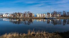 Holzteichquartier Greifswald (joerge65) Tags: deutschland boot hafen fluss greifswald mecklenburgvorpommern ruderer ryck holzteichquartier