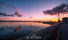 Sansbanks Sunset, Dorset (Emily_Endean_Photography) Tags: light sunset sea colors clouds sunrise happy evening coast spring nikon surf board paddle wideangle shore dorset sup cloudporn sandbanks poole
