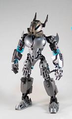 Toa Niretta - Front (0nuku) Tags: silver lego da deviant oc deviantart bionicle toa kakama selfmoc niretta