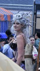 Serious Octohair (Anders Magnusson) Tags: street nyc blue girls newyork girl hair coneyisland grey nikon octopus mermaid andersmagnusson