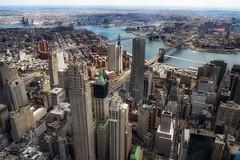Manhattan & Brooklyn (karinavera) Tags: city travel bridge urban brooklyn day cityscape view manhattan aerial wtc nikond5300
