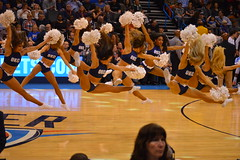 Leaping Thunder Girls (radargeek) Tags: basketball pom cheerleaders okc nba oklahomacity okcthunder