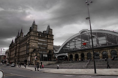Lime Street (Tony Shertila) Tags: england sky building station weather clouds liverpool hotel europe day cloudy britain outdoor limestreet merseyside