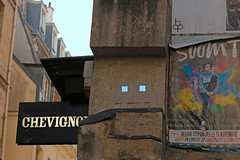 Rue Vieulle du Temple - Paris (France) (Meteorry) Tags: street paris france art wall beige europe december ledefrance spaceinvader spaceinvaders camo invader camoflage pixels rue mur idf artderue 2015 meteorry chevignon pa114 mirroreyes reactivation reactivated invaderwashere