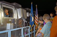 Neil A. Armstrong greeted by his son Mark upon his return from the Moon while still in the Mobile Quarantine Facility. The three Apollo 11 astronauts were confined for 21 days to prevent the spread of any contagions from the Moon. (27 July, 1969) [2984 x (Histolines) Tags: from moon history 1969 mobile by for spread three still 21 mark july neil son 11 any x days retro astronauts return his timeline were while facility 27 apollo armstrong upon quarantine 1960 confined the prevent greeted vinatage 2984 a historyporn contagions histolines httpifttt1nxddcc