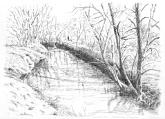 Ravine (light and shadow by pen) Tags: art pen ink landscape drawing ravine