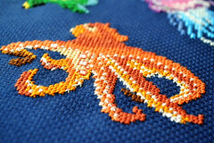 octopus (Pumora) Tags: fish underwater cross stitch embroidery fisch fische sticken kreuzstich