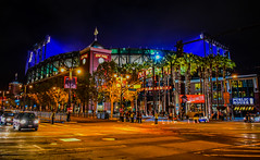 AT&T Park on King Street at Night - San Francisco CA (mbell1975) Tags: sf sanfrancisco california park ca street usa field night america us san francisco king unitedstates baseball stadium calif arena cal american giants att mlb