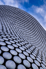 To infinity (sarah_presh) Tags: uk blue england sky building shop clouds silver store birmingham exterior selfridges discs nikond750