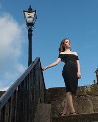 Chloe (maxbryan92) Tags: street light portrait woman lamp face female scotland globe model nikon ranger south chloe forth quadra queensferry southqueensferry gbr d4 gaffney elinchrom