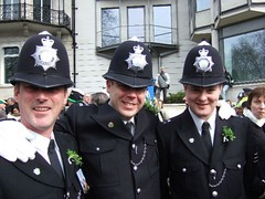 Irishmen in London police.