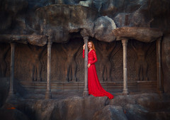 Once upon a time (escape.myself) Tags: travel red ginger asia redhead fantasy got redhair magical reddress goldenhour whimsical redlady gameofthrones asianprincess longreddress annashen