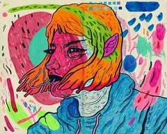 windy stormy rainy mind (art-creature) Tags: art moleskine illustration ink artwork artist acrylic drawing sketchbook marker brushpen