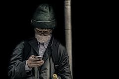 In Japan (Enricodot ) Tags: portrait people black guy japan japanese phone sms tokio whatsapp enricodot