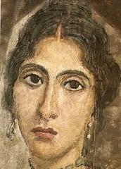 Ancient Rome. Mummy portrait of woman, Hawara , Roman Egypt (Cairo, Egyptian Museum) (mike catalonian) Tags: portrait face female painting egypt mummy hawara ancientrome fayum